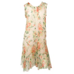 1920s Floral Printed Day Dress