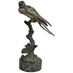 1920s French Art Deco Bronze Bird Sculpture