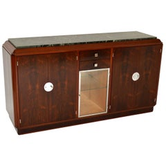 1920s French Art Deco Wood and Marble Sideboard