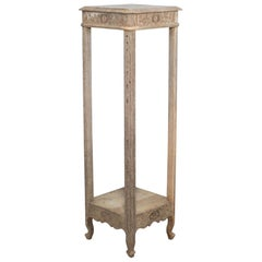 1920s French Bleached Oak Pedestal Table