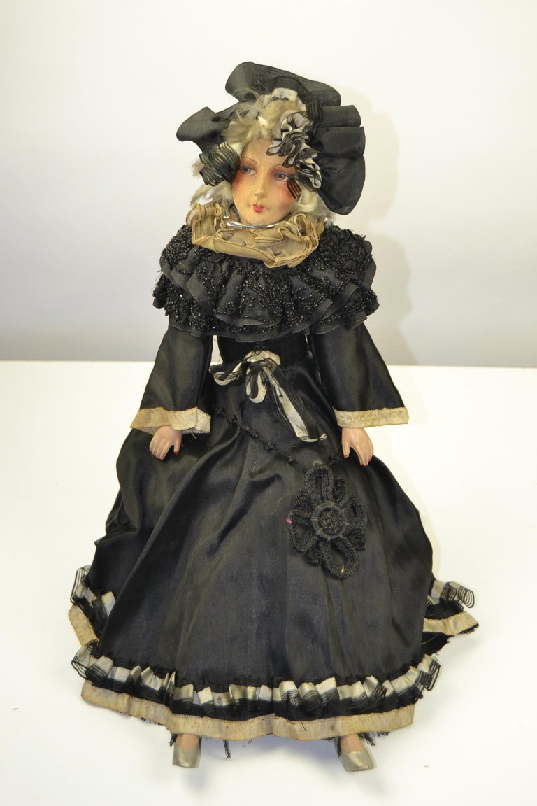 1920s French Boudoir Dolls, Salon Dolls, Pierrot and Pierrette For Sale 12