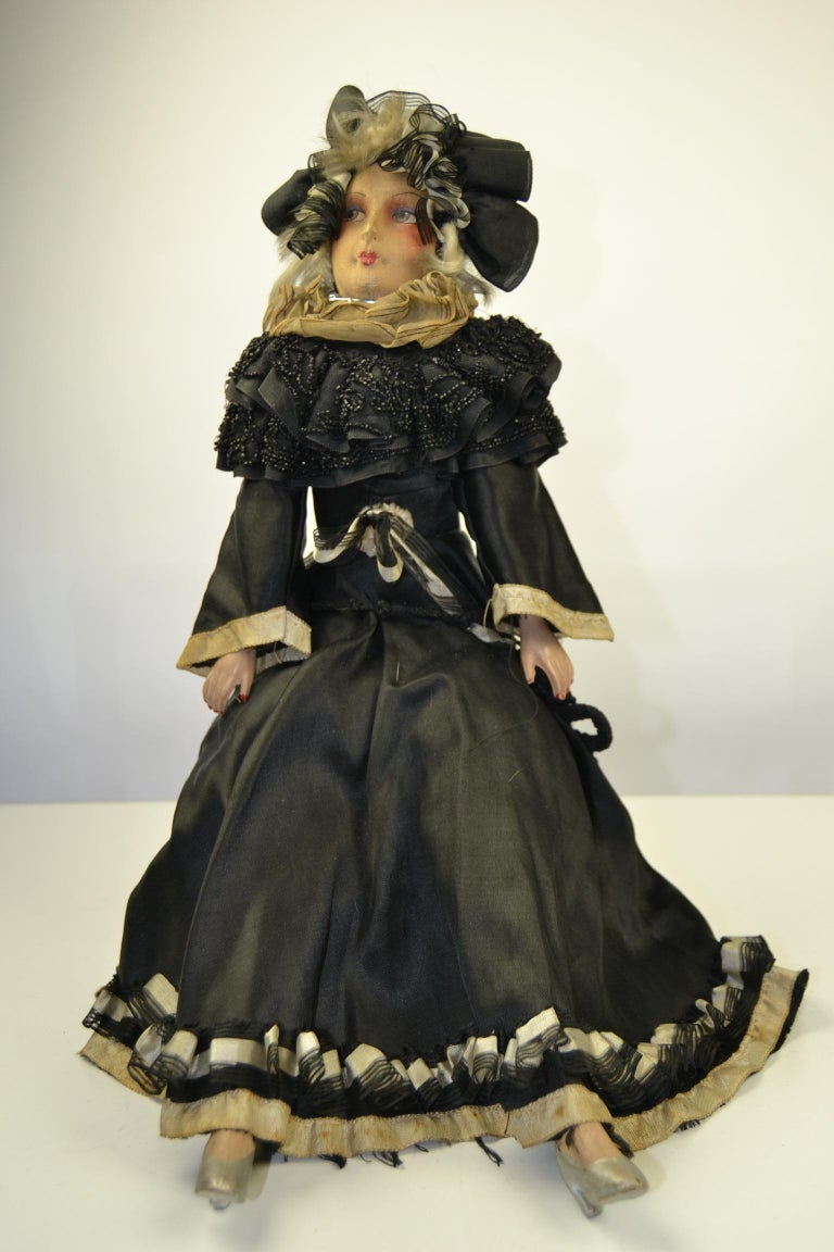 1920s French Boudoir Dolls, Salon Dolls, Pierrot and Pierrette For Sale 14