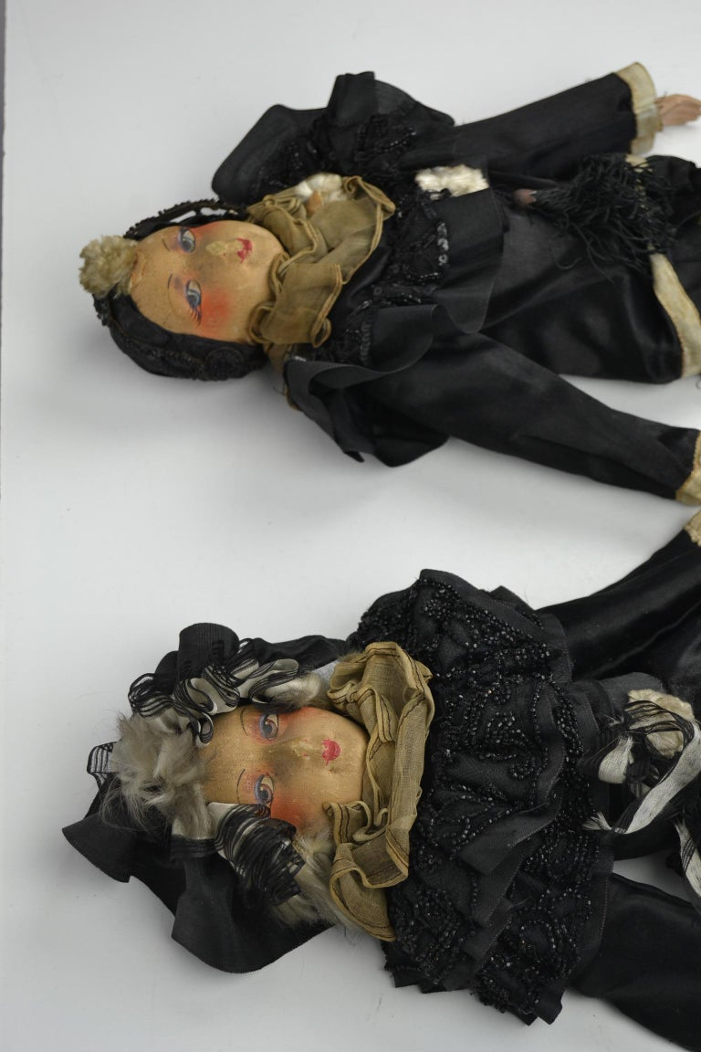 1920s French Boudoir Dolls, Salon Dolls, Pierrot and Pierrette In Good Condition For Sale In Antwerp, BE