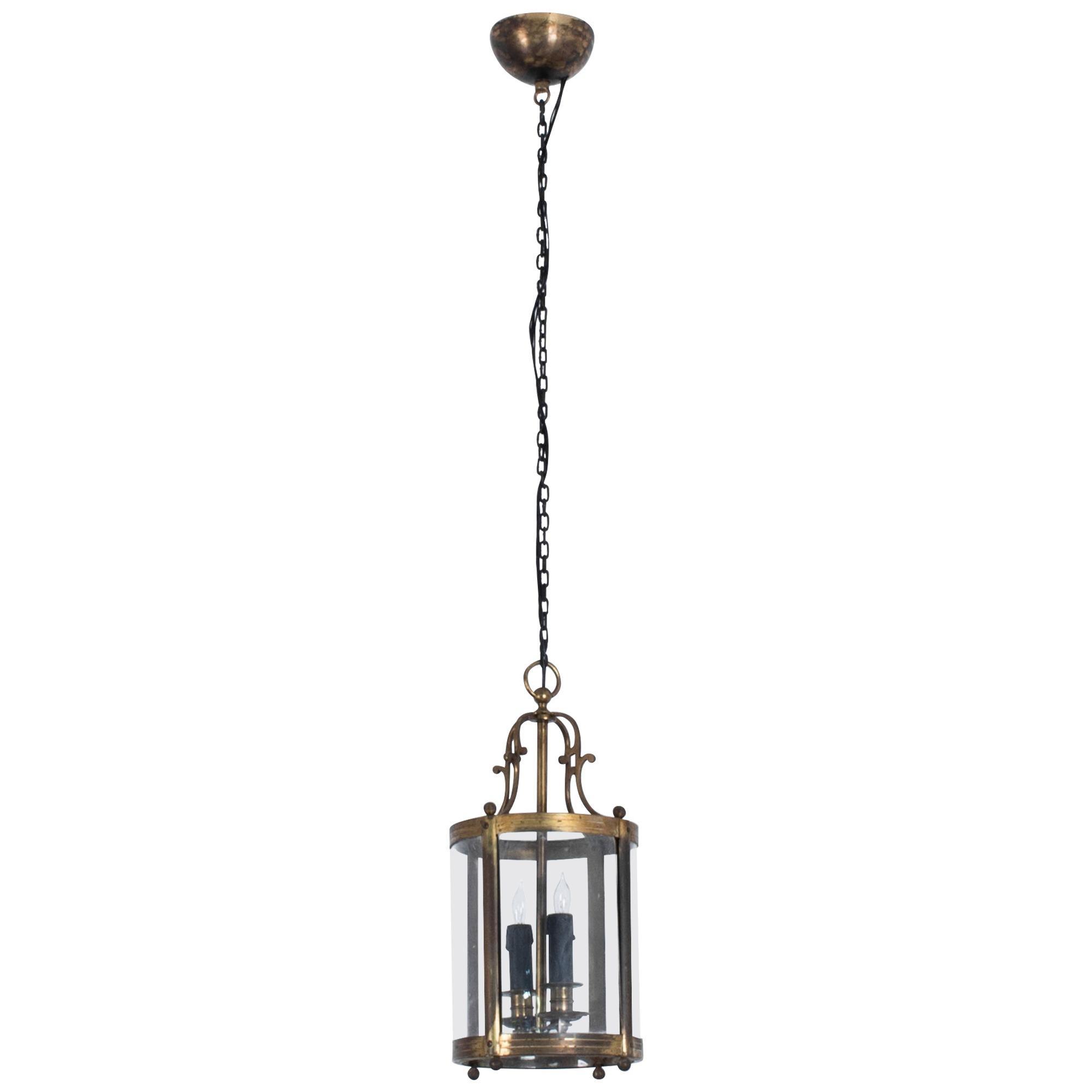 1920s French Brass Lantern