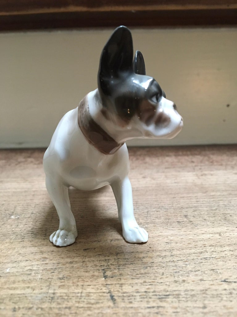 1920s French Bulldog Figurine by Rosenthal Selb Bavaria Germany, Art Deco For Sale 3