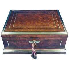 1920s French Burr Cedar Jewelry Box