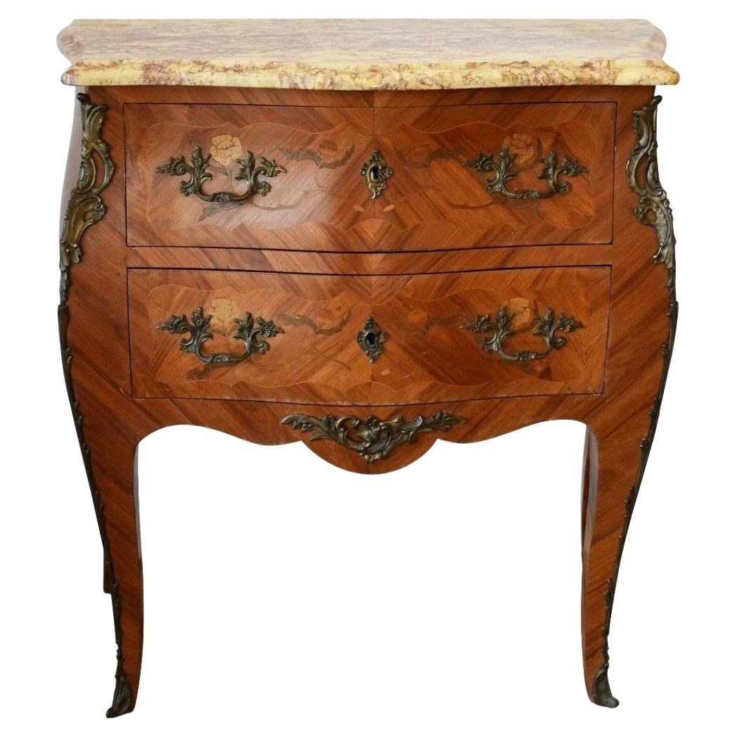 1920s French Chest of Drawers with Marble Top