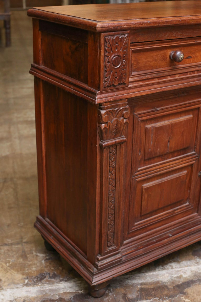 1920s French Colonial Solid Teak Wood Superbly Carved
