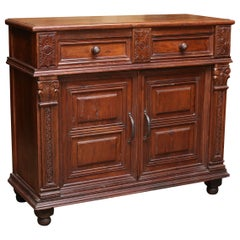 1920s French Colonial Solid Teak Wood Superbly Carved Vanity from a Mansion