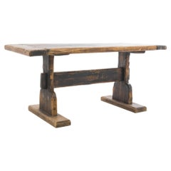 1920s French Country Wooden Table