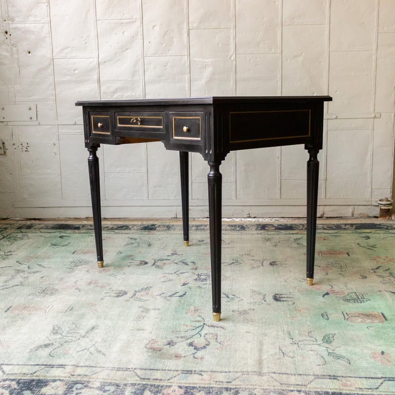 1920s French Ebonized Mahogany Writing Desk For Sale 5
