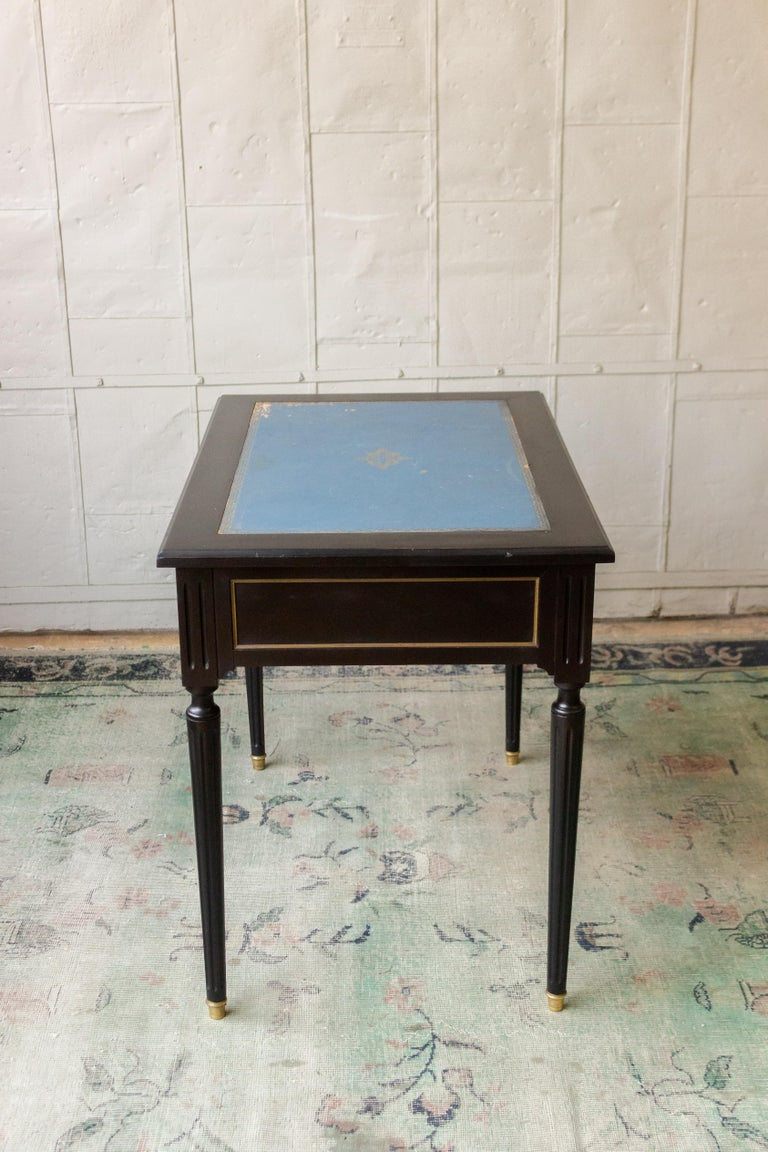 1920s French Ebonized Mahogany Writing Desk For Sale 6