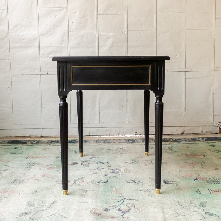 1920s French Ebonized Mahogany Writing Desk For Sale 7