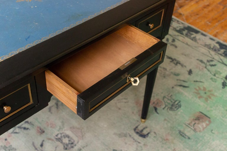 Louis XVI 1920s French Ebonized Mahogany Writing Desk For Sale