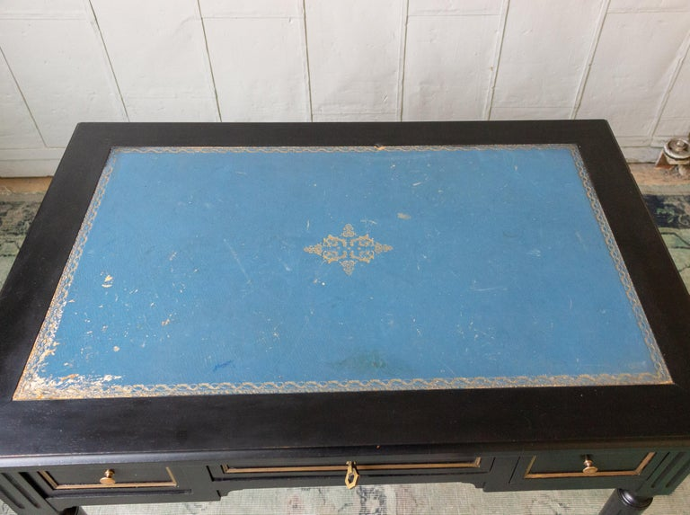 20th Century 1920s French Ebonized Mahogany Writing Desk For Sale