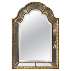 1920s French Giltwood Beveled Mirror