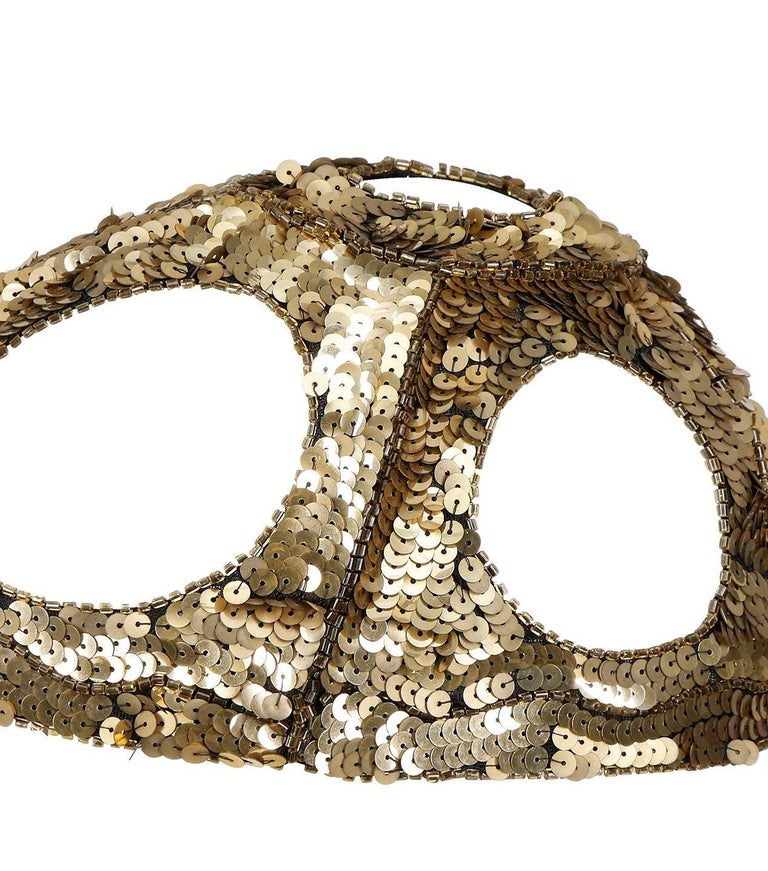 1920s French Gold Sequined Skull Cap For Sale 1