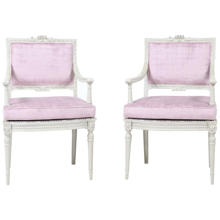 1920s French Louis XVI-Style Armchairs For Sale