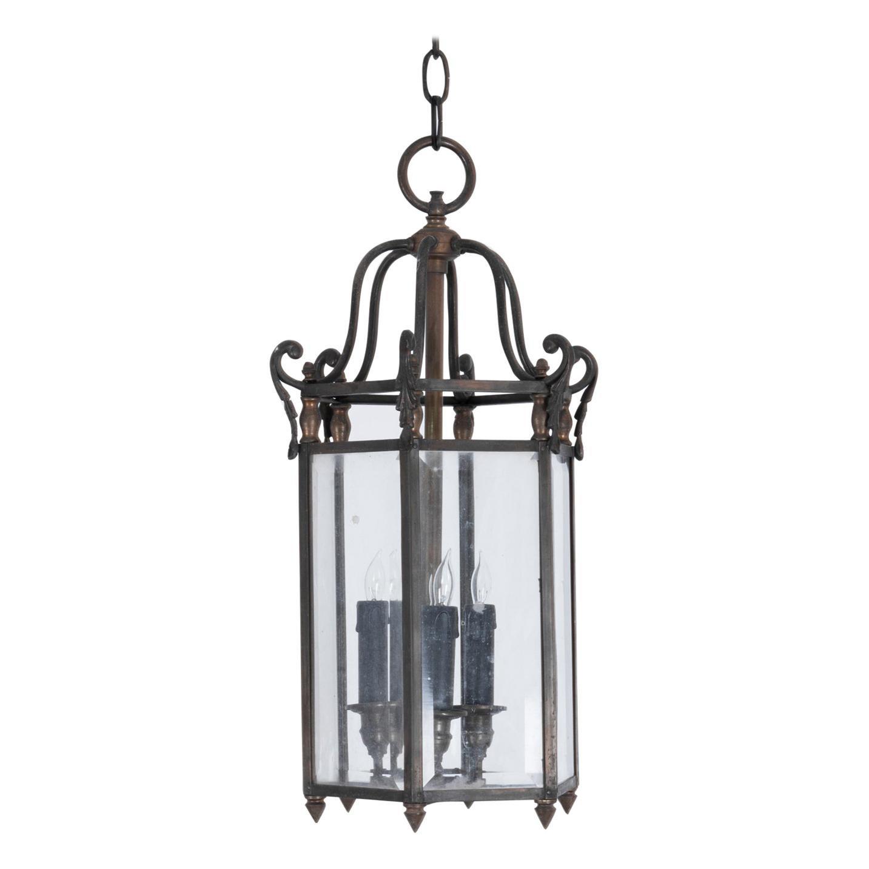 1920s French Metal Lantern