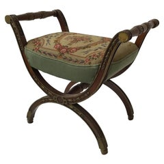 1920s French Needlepoint Bench
