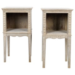 1920s French Oak Side Tables, a Pair
