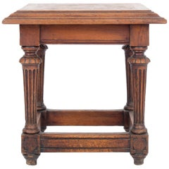 1920s French Provincial Wooden Side Table