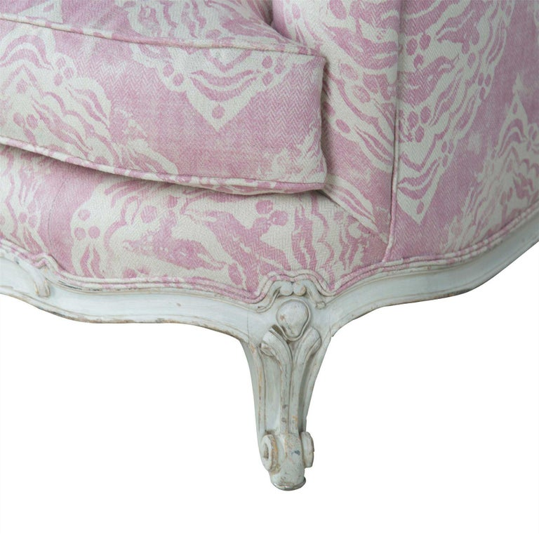 Fabric 1920s French Sofa For Sale