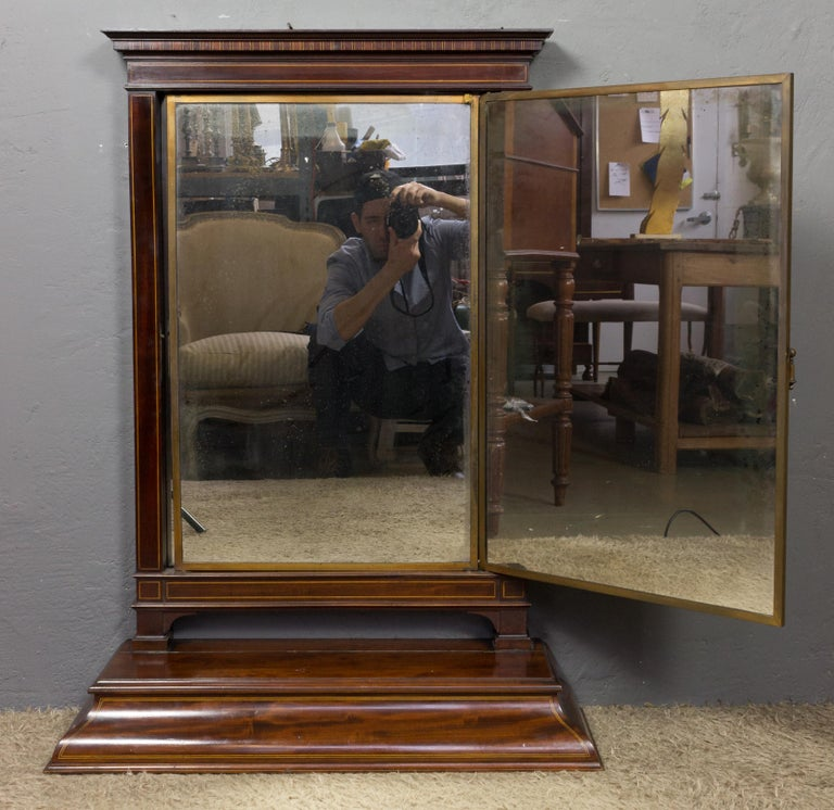 1920s French Triptych Vanity Dressing Mirror by Brot For Sale 1