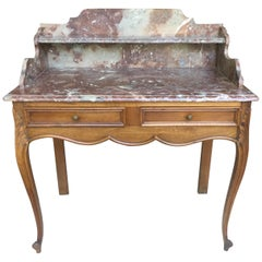 1920s French Walnut and Marble Vanity's
