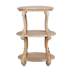 1920s French Wooden Acanthus Side Table