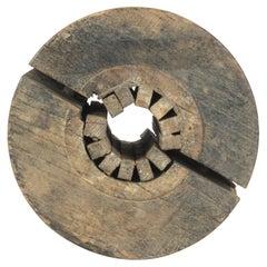 1920s French Wooden Machine Wheel