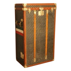 1920s Goyard Trunk, Goyard Chest of Drawers