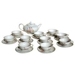 1920s Guido Andlovitz Verbano Italian Ceramic Porcelain Art Deco Tea Set