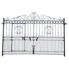 1920s Hand-Forged Monumental Steel Gate from a Forest Bungalow in East India