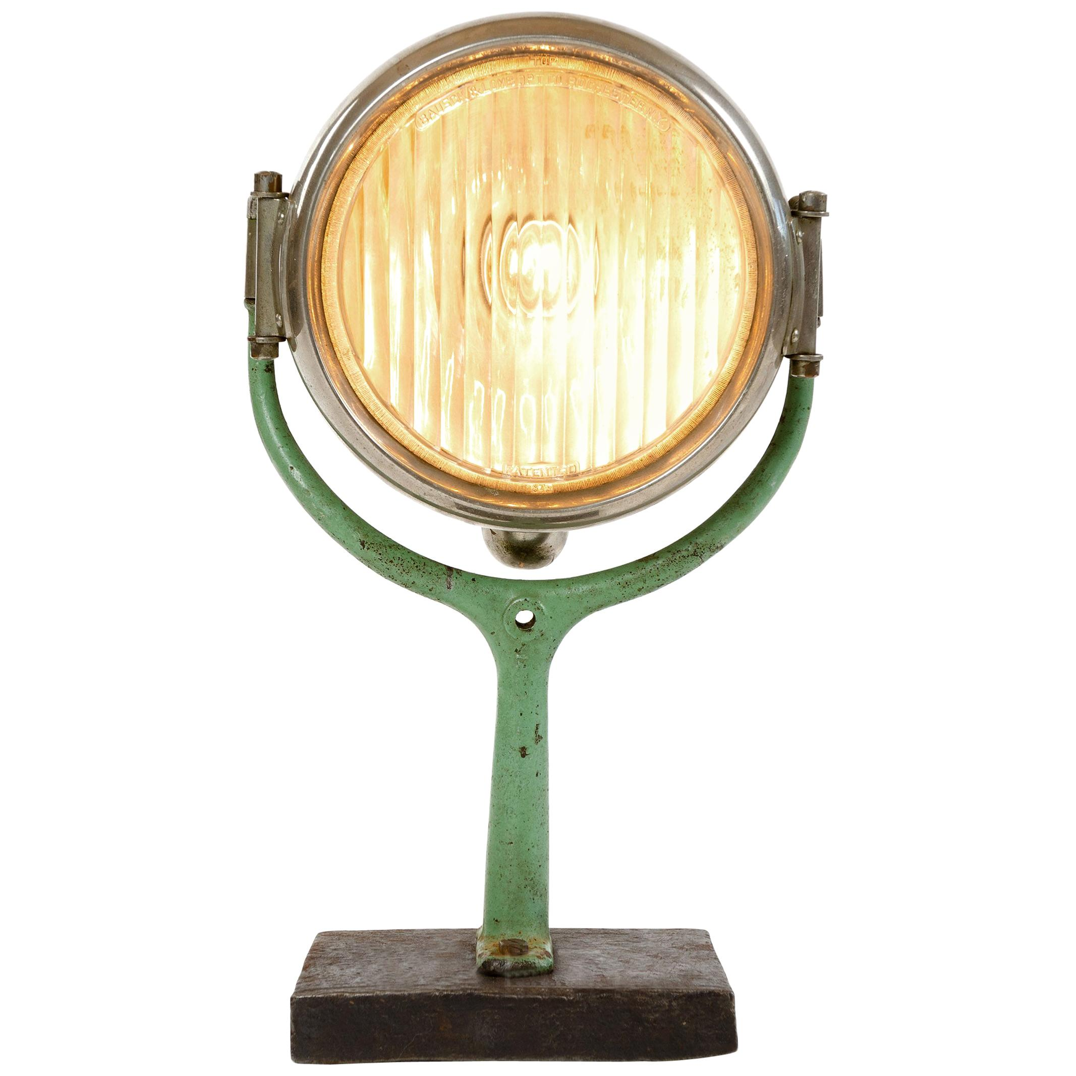 1920s Industrial Electric Spotlight by Superior Lamp Mfg