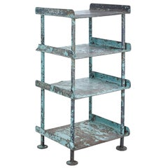1920's Industrial Painted Shelving Unit