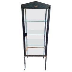 1920s Iron and Glass Art Deco Vitrine from Argentina