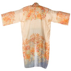 1920s Japanese Silk Pongee Kimono