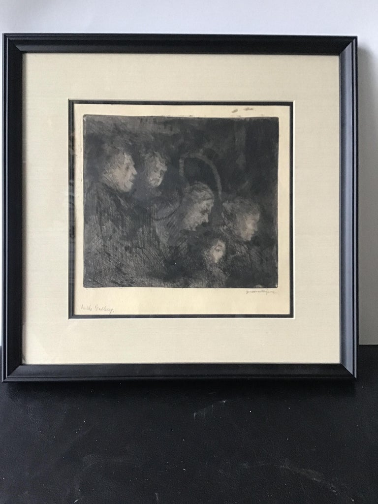 1920s Jerome Myers Print In Good Condition For Sale In Tarrytown, NY