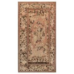 1920s Karabagh Pinkish Brown Handmade Wool Rug