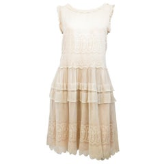 1920s Lace Drop-Waist Dress with Soft Rose Lining