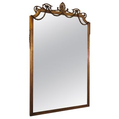 1920s Large Gustavian Wood and Gesso Mirror