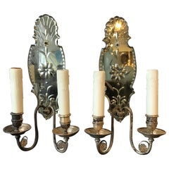 1920s Large Mirrored Sconces