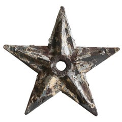 1920s Large NYC Tribeca Cast Iron Hurricane Plate Building Star