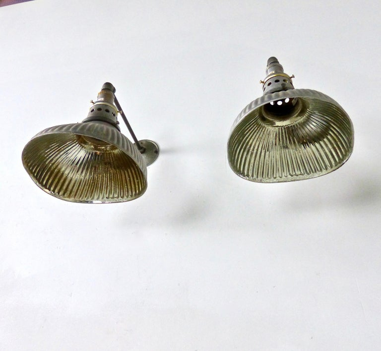 Industrial 1920s Mercury X-Ray Wall Sconces by Curtis Lighting For Sale