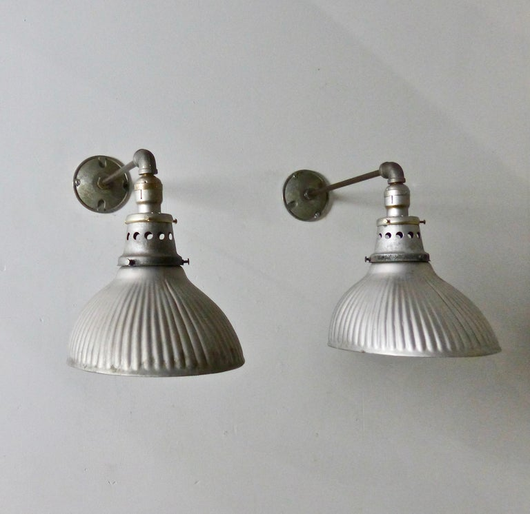 1920s Mercury X-Ray Wall Sconces by Curtis Lighting In Good Condition For Sale In Surrey, BC