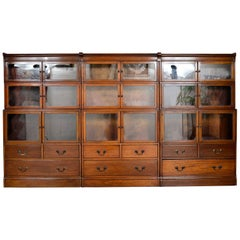 1920s Minty Barristers Modular Mahogany Library Bookcases Drawers Cabinets