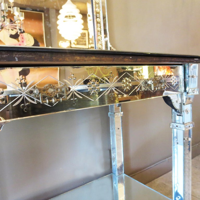 Art Deco 1920s Mirrored Vanity from the Bette Davis Hollywood Estate For Sale