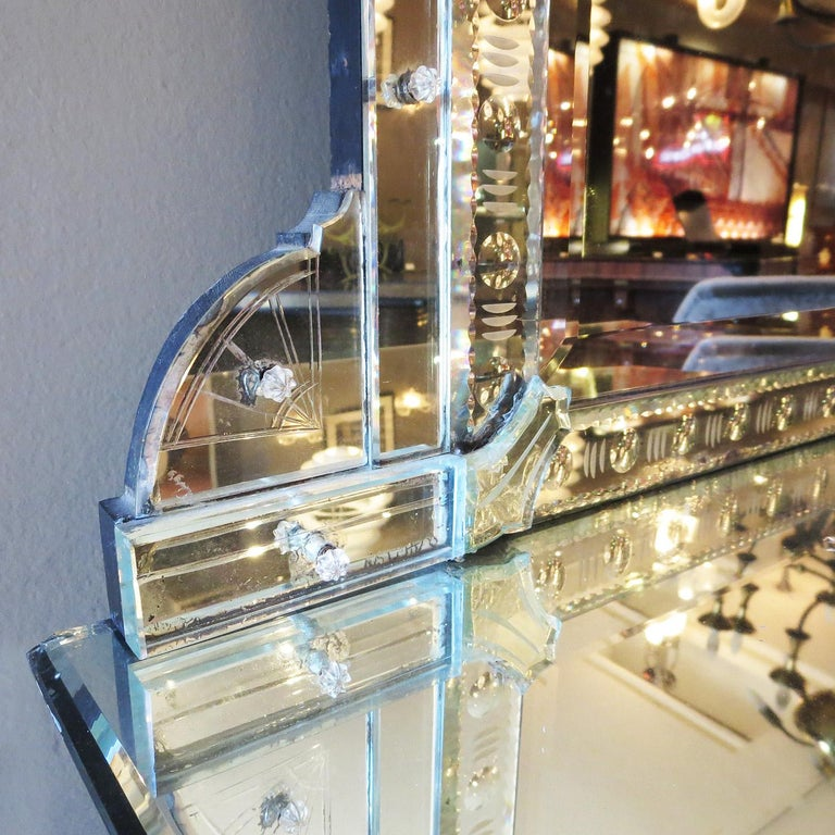 Mid-20th Century 1920s Mirrored Vanity from the Bette Davis Hollywood Estate For Sale