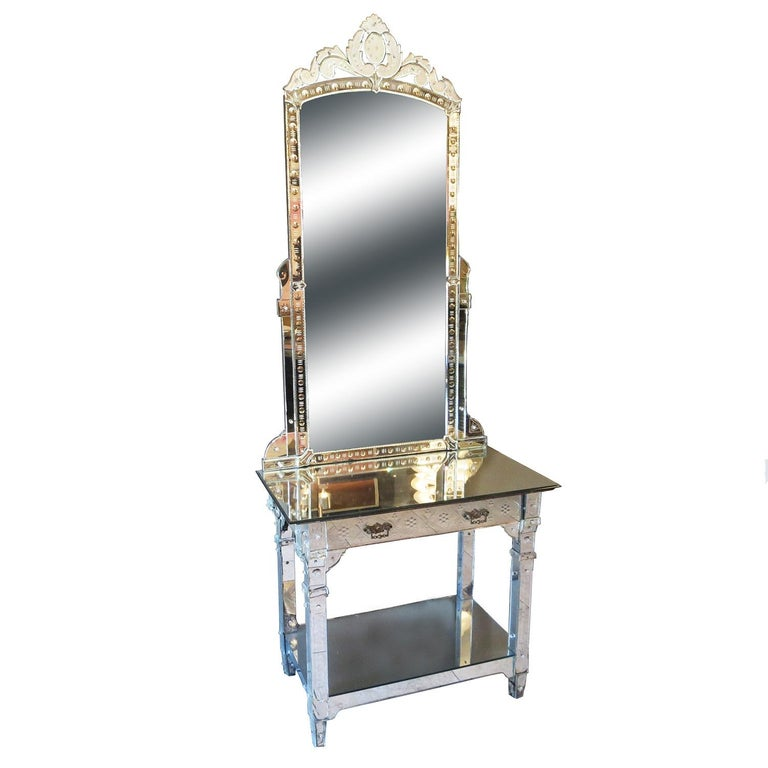 1920s Mirrored Vanity from the Bette Davis Hollywood Estate For Sale
